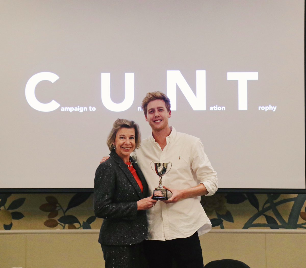 Now that Katie Hopkins can't read Twitter, I can tell you that on Monday I made her fly to Prague to pick up a completely fake award. Video up shortly. https://t.co/8EeQsQX6U3