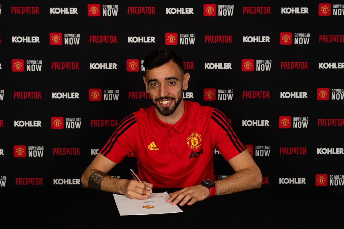 Manchester United Confirms The Signing Of Bruno Fernandes From Sporting