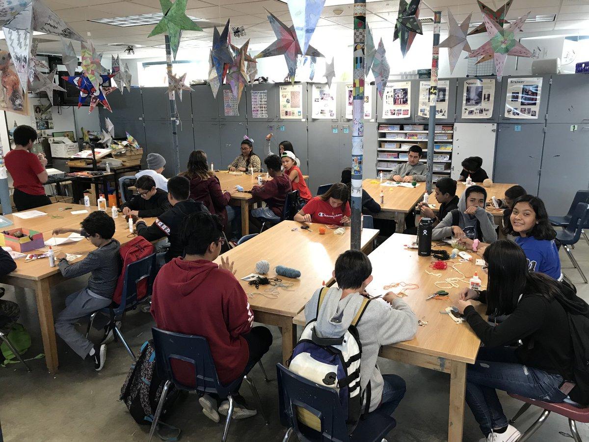 Huichol yarn paintings at CVM today!