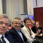 Heureux d'être avec mes amis @alainhoupert, Danielle Darfeuille et des centaines de Dijonnais à la présentation de la liste et du projet d'@emmanuelbichot pour les #Municipales2020 à #Dijon. Changer d'équipe et les pratiques, c'est une nécessité. Tout mon soutien Emmanuel !