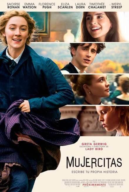 #Cine #Estreno  #Mujercitas es una nueva transposición de la exitosa novela de Louisa M Alcott. Realiza varios cambios respecto a las versiones cinematográficas anteriores, por ejemplo es más explícita respecto a su #feministpower Más al respecto en mi #review  #LittleWomenMoviepic.twitter.com/NKgjrPGeep