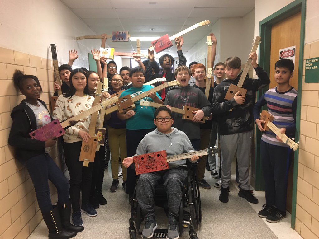 A long journey. But the cigar box guitar project was an overall success. Can't wait for next semester to do it again ! <a target='_blank' href='http://twitter.com/APSGunston'>@APSGunston</a> <a target='_blank' href='http://twitter.com/APS_CTAE'>@APS_CTAE</a> <a target='_blank' href='https://t.co/8nrQ0XEsvR'>https://t.co/8nrQ0XEsvR</a>