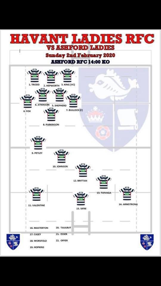 Ladies team who travel to Ashford this Sunday to keep their top of league spot! Strong team! @havantrfc #upthehill