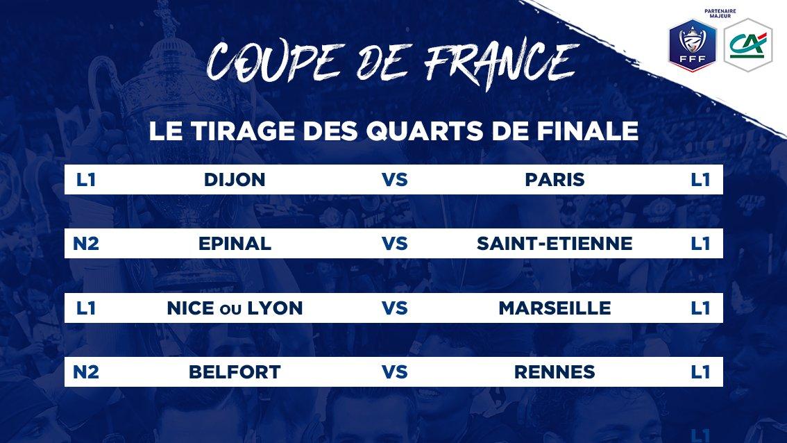 Coupe de france l 39 om contre nice ou l 39 ol et dijon psg - Quarts de finale coupe de france ...