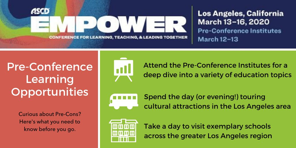 Are you interested in taking a deeper dive into Social-emotional learning? Curious about the exemplary schools in the LA area? Check out our Pre-Conference opportunities at #Empower20: