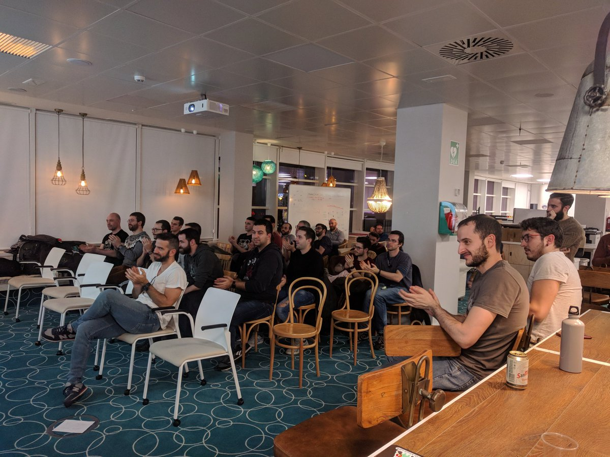 Always thrilled to welcome our @MADGevents community at our office for exciting talks! This time by the brilliant @MiguelSesma @npatarino you guys rock!🤘  #Android #AndroidDev #softwareengineering
