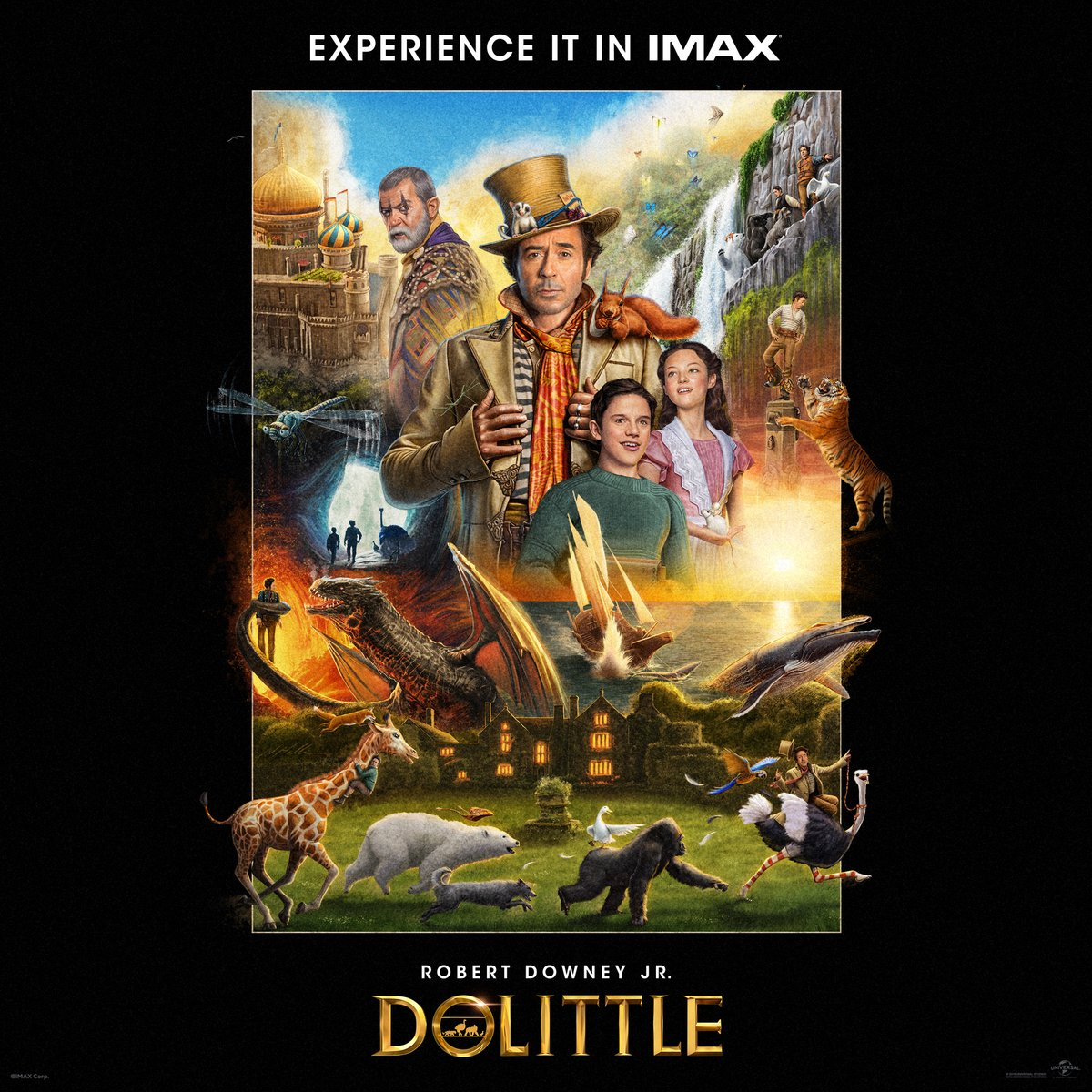 A journey this wondrous must be seen on the biggest screens. Get your family together to experience the fun of Dolittle in #IMAX today!  Get your tickets now: https://t.co/mZYpoc8FSI https://t.co/72NJtGLJCs