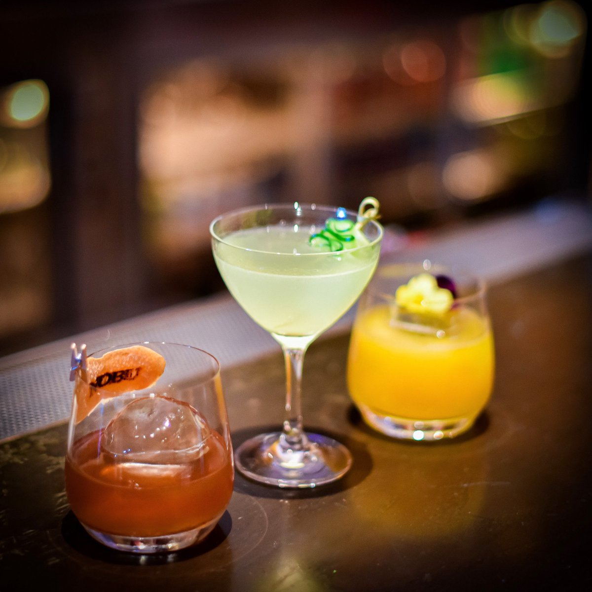 Freshen up your happy hour with a #Nobustyle cocktail. #Nobucocktails #NobuRestaurants