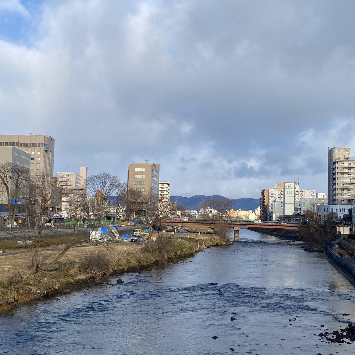 2020/01/31 盛岡市の開運橋から撮影。みなさま、体調管理に気をつけてお過ごしください。 #岩手 #盛岡 #北上川 #岩手においでよ