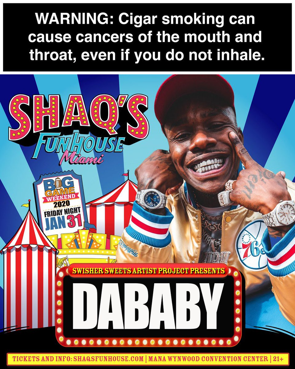 Get your last minute tickets to see me perform on the @swishersweets Artist Project stage at Shaqs Fun House! #ad