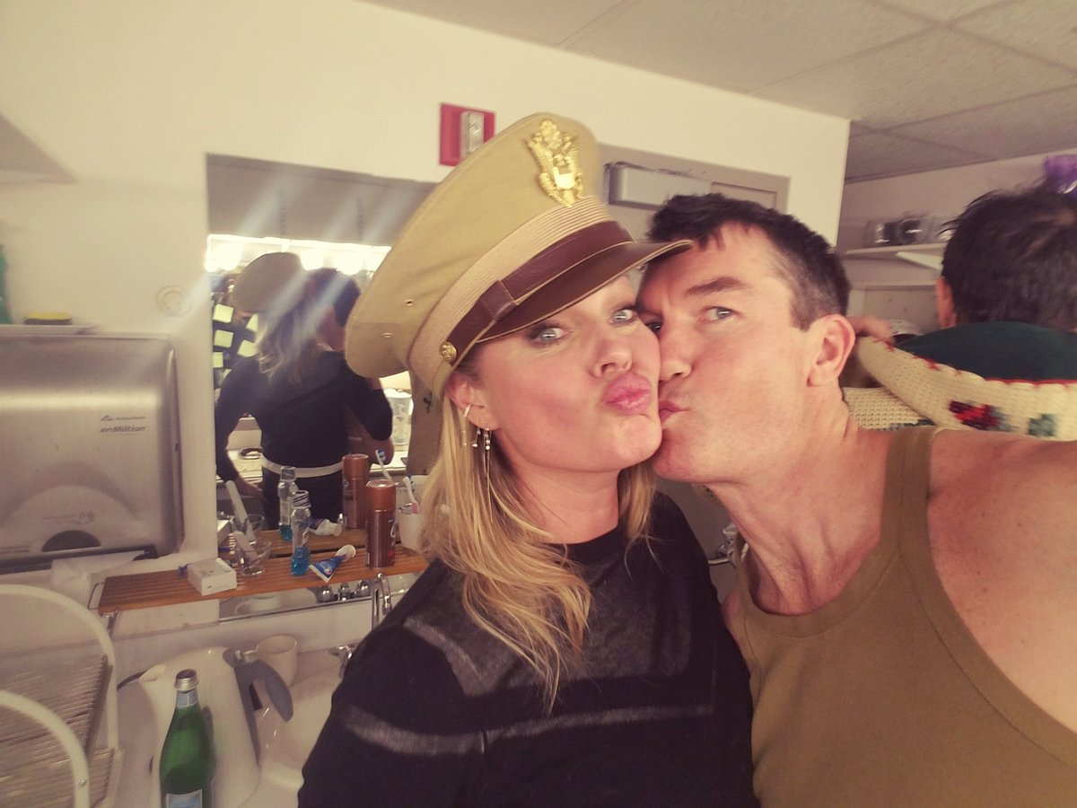 #ASoldiersPlay @RebeccaRomijn reporting for duty @roundaboutnyc