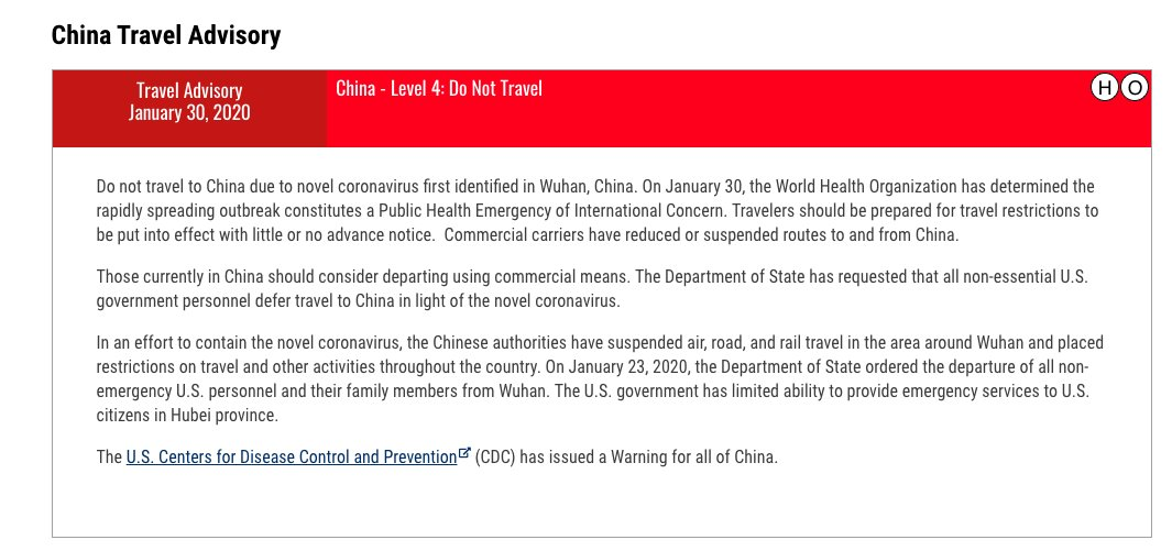 "State Dept Issues ""Do Not Travel To China"" Advisory…"