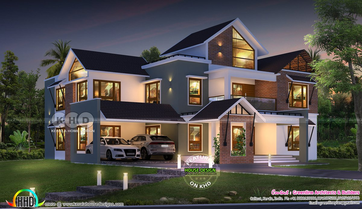 Kerala Home On Twitter Mixed Roof Home Https T Co Zblrn3ny88