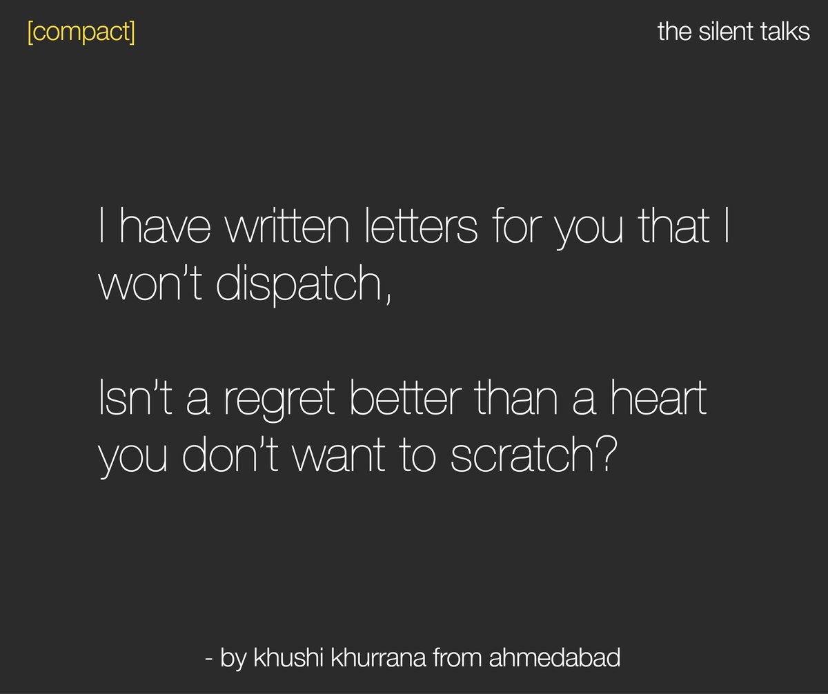 #RT #STORYTELLING Top story: @thesilenttalks: '[compact] | Written by Khushi Khurrana from Ahmedabad -- #thesilenttalks #TST #writer #writersofinstagram #writersofig #writerscommunity #writerslife #writersofindia #story… pic.twitter.com/tYzK30ROED, see more http://tweetedtimes.com/v/8395?s=tnp