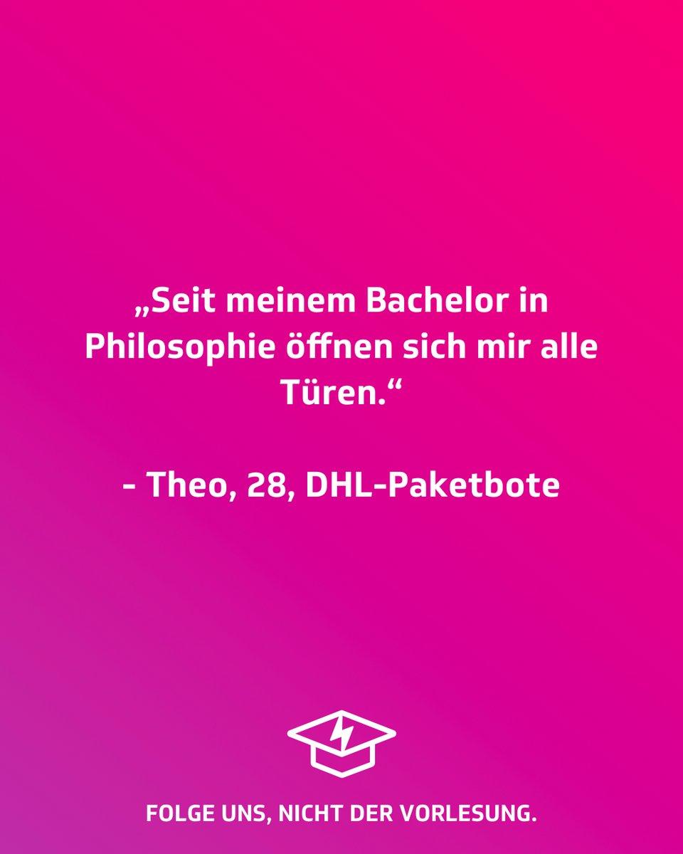 #Flachwitzfreitag  #studentenstoff #flachwitzfreitag #flachwitz #achtungflach #flach #derkommtflach #kalauer #füßehoch #jodeldeutschland #universität #studenten #studentenleben #humor #lachen #lustig #unileben #dualerstudent #dhl #paketbote #alumni #alumnuspic.twitter.com/CRNoWxh3NO