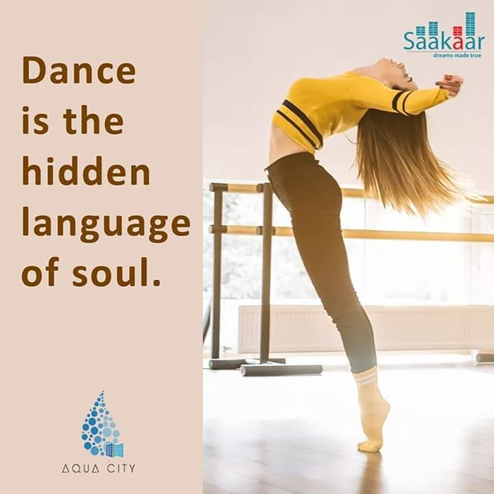 Saakaar Aquacity provides ample and dedicated space for practicing, enjoying and learning dance. Here, your dance won't disturb your neighbours.   #saakaar #aquacity #dance #society #family #love #realestate #dfevelopment #design #construction #home #sweethome #buyaflatpic.twitter.com/wCjDjYsvz3