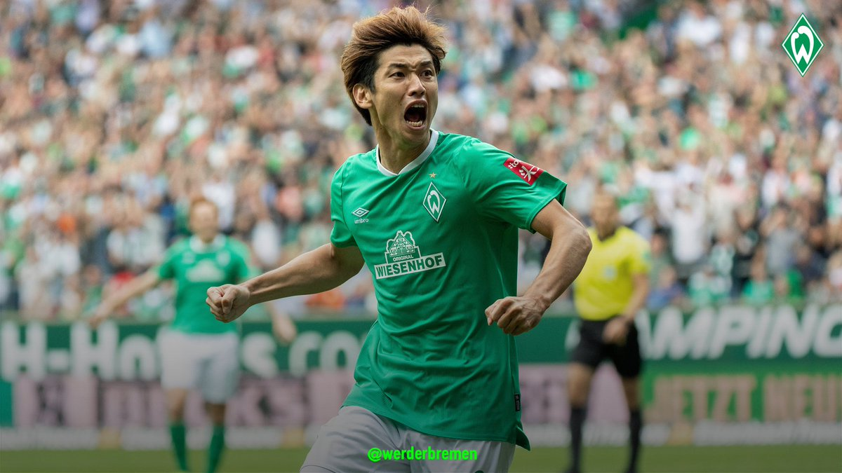 """SV Werder Bremen EN (🏡) on Twitter: """"Yuya #Osako was a man on a ..."""