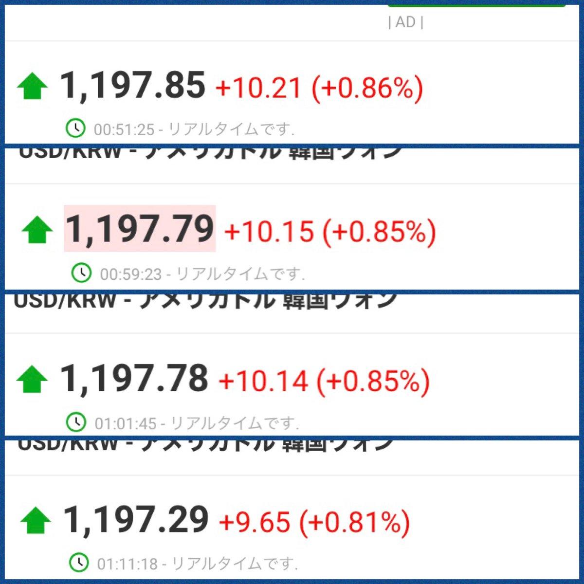 リアルタイム 韓国ウォン ドル ドル 韓国