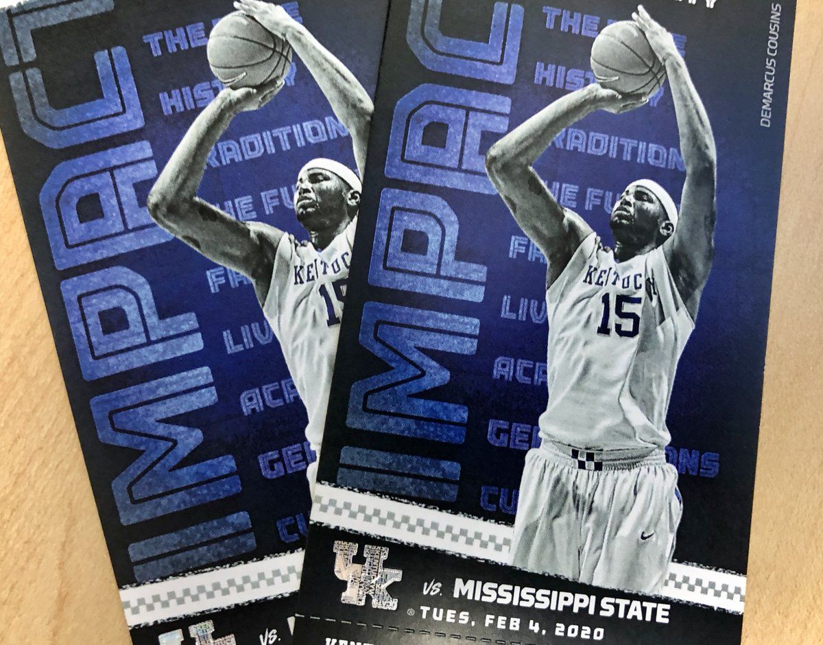 We are giving away 2 lower level tickets to the @KentuckyMBB vs Miss. St game on Feb. 4th. To enter all you have to do is retweet this tweet! Be sure to be following so we can contact the winner. Winner will be announced during the @UKCoachCalipari show on Monday night.