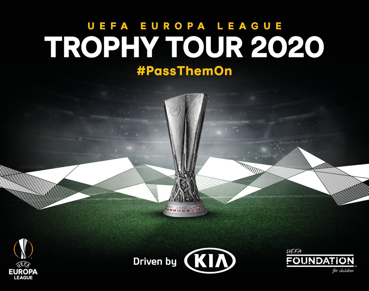 🏙 Six cities ⚽ 1000+ football boots 🌍 One goal  The UEFA @EuropaLeague Trophy Tour Driven by Kia is back for 2020 and starting next week in Frankfurt, we will be helping @Kia_Motors collect football boots to donate to Syrian refugees in Jordan 🇯🇴  #PassThemOn #UELTrophyTour