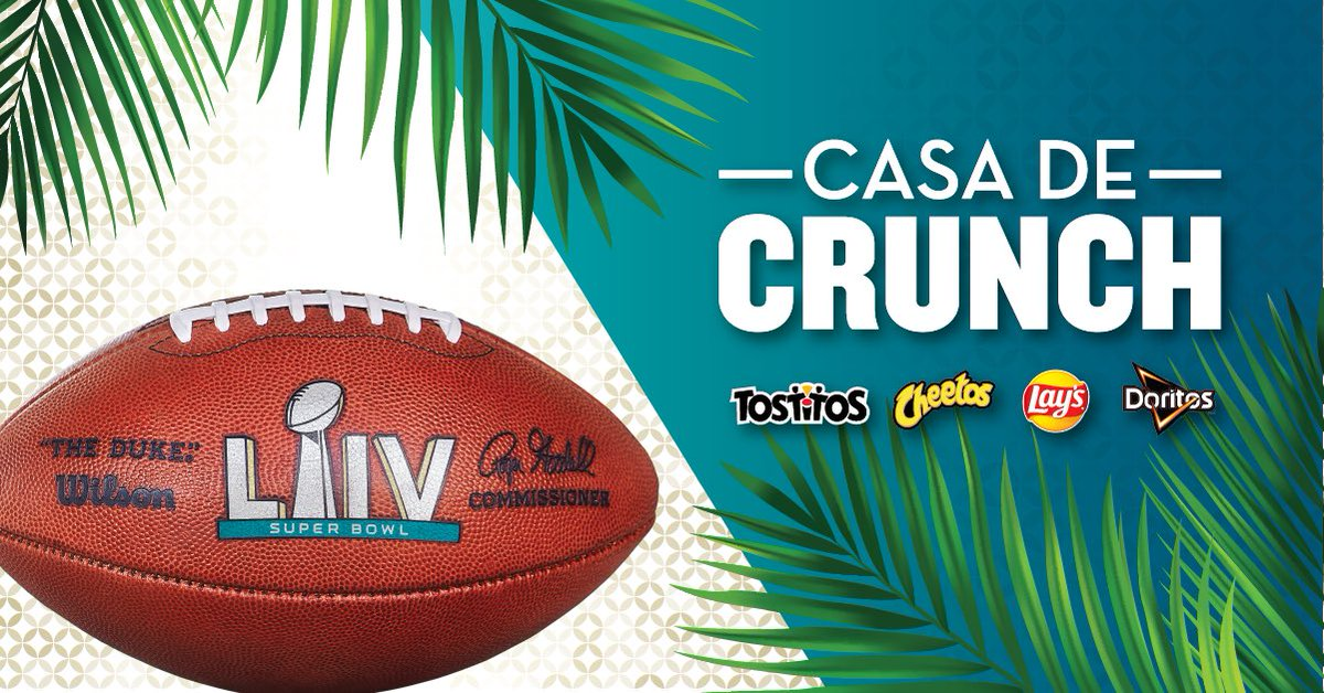I'll be hitting up the @fritolay #CasaDeCrunch at Super Bowl Live on Friday from 3:30PM – 4:30PM EST. If you're in Miami, come check it out and say what's up. #ad https://t.co/XvDnrftaVl