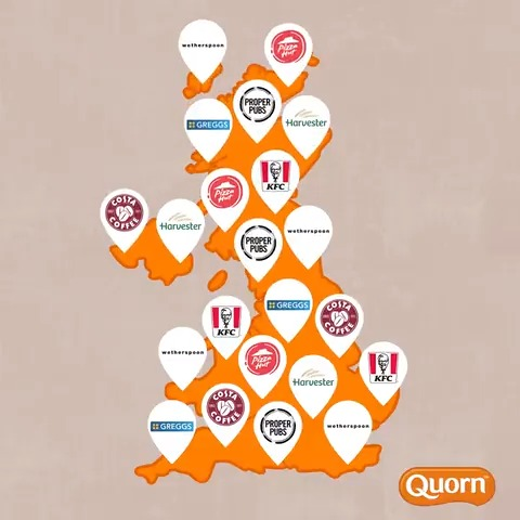 BIG news!! 📰📢 Quorn is now available in food chains across the country. Delicious vegetarian and vegan meals are at your finger tips, wherever you are, so give yourself a break from the kitchen tonight and let someone else do the cooking!