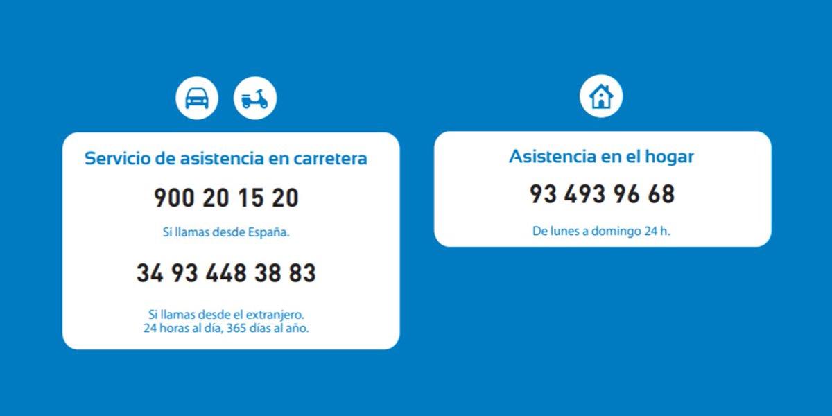 Si necesitas asistencia en el hogar o en carretera, te recordamos nuestros números de asistencia 24 horas. Muchas gracias. https://t.co/NF3NTxuXRT