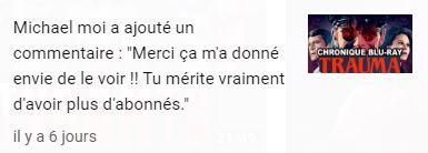 En voilà des commentaires qu'on aime recevoir ! N'hésitez pas à nous rejoindre ! https://www.youtube.com/channel/UCCRNTp6h_JAHLMDVOsh8Ddw?view_as=subscriber…  #Fantastique #YouTube #Horreur #Abonnés #Filmdhorreur #Livrefantastique #Vlog #Cinémadhorreur #Cinéma #Monstres #Vidéospic.twitter.com/DI56KCf4FH