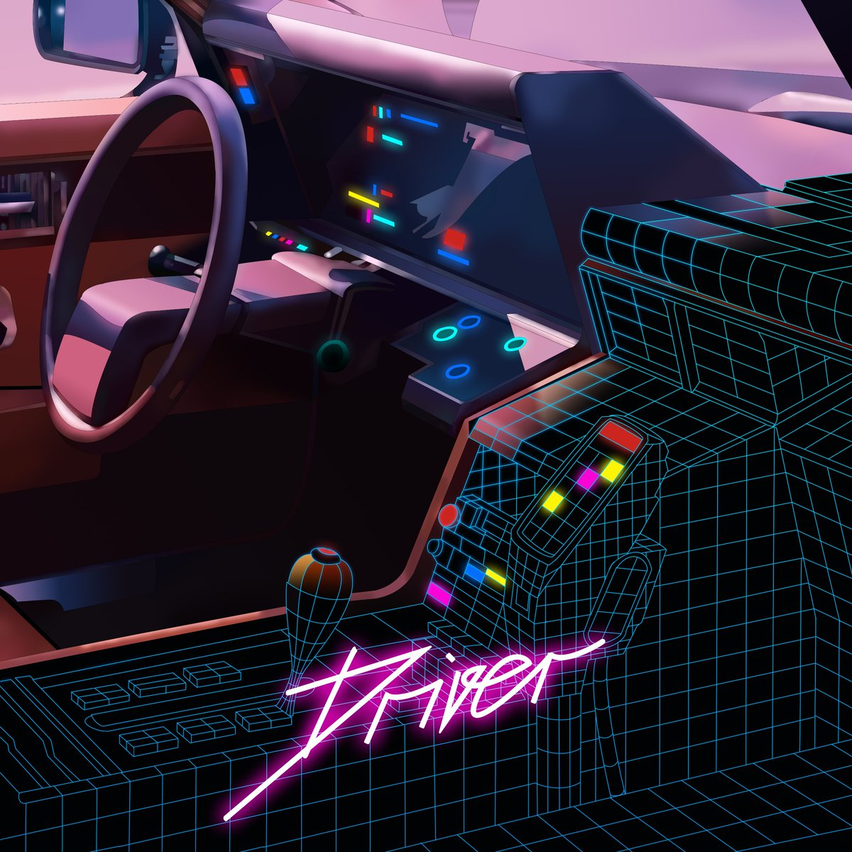 Neonnight On Twitter Driver Coverart 80s Drive Illustration Newretrowave Synthwave Outrun Darksynth Synthpop Vaporwave Aesthetic Dj Producer Drawing Painting Comic Anime Manga Car Conceptart Vr Cyberpunk Neon Retro Https T