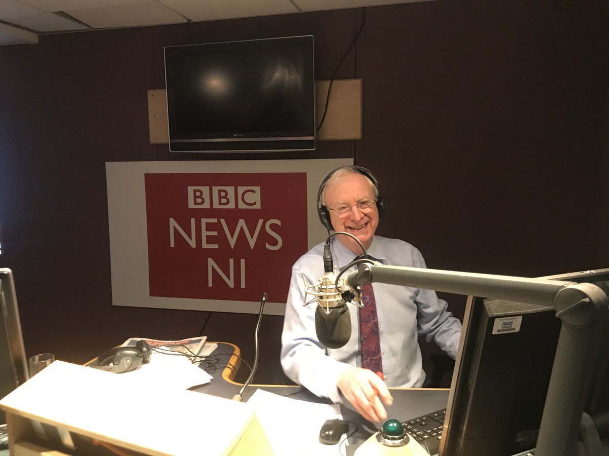 .@bbcevex is on air - our last day with Seamus McKee - he doesn't look too sad about it yet!