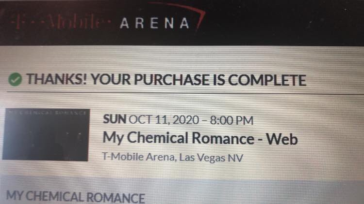 See you in Vegas @MCRofficial !!! 😭🤘🏼 #MCRXX