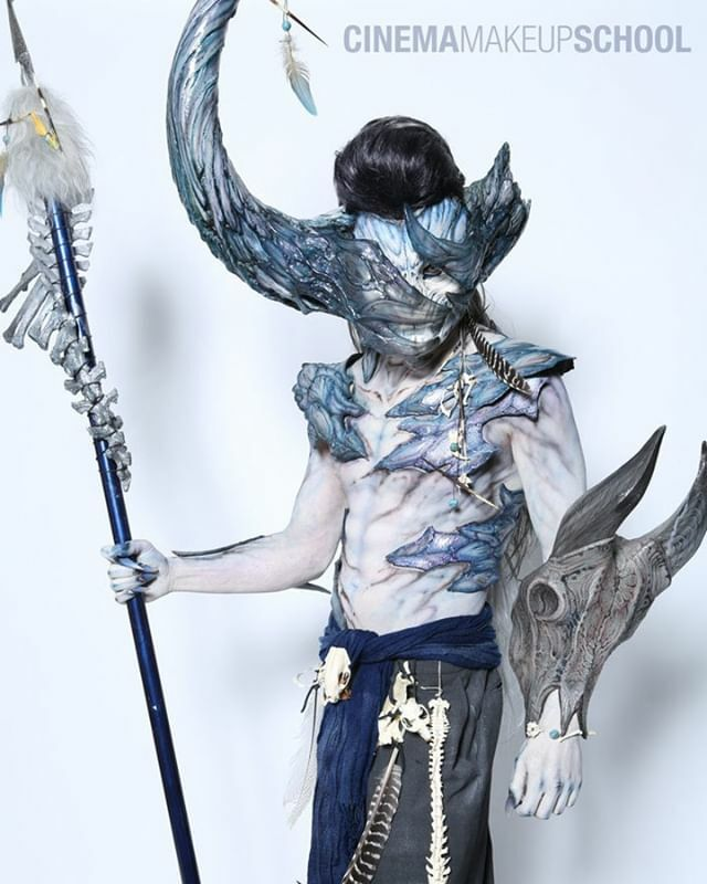 Dream Demon 💭 A special makeup for CMS designed, sculpted, painted and applied by graduate Miyo Nakamura on Josh McCarron. Assisted by Kate Howard and Saori Nakada! ❄️🗡️ || #cinemamakeupschool #demonmakeup #sfxmakeup https://t.co/1tBb1PwThy https://t.co/hf05o2JIsN