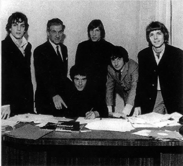 """On this day in 1967, Pink Floyd turned professional as they signed for EMI, with their first single (Arnold Layne, """"the next projected sound of '67"""") released just over a month later."""
