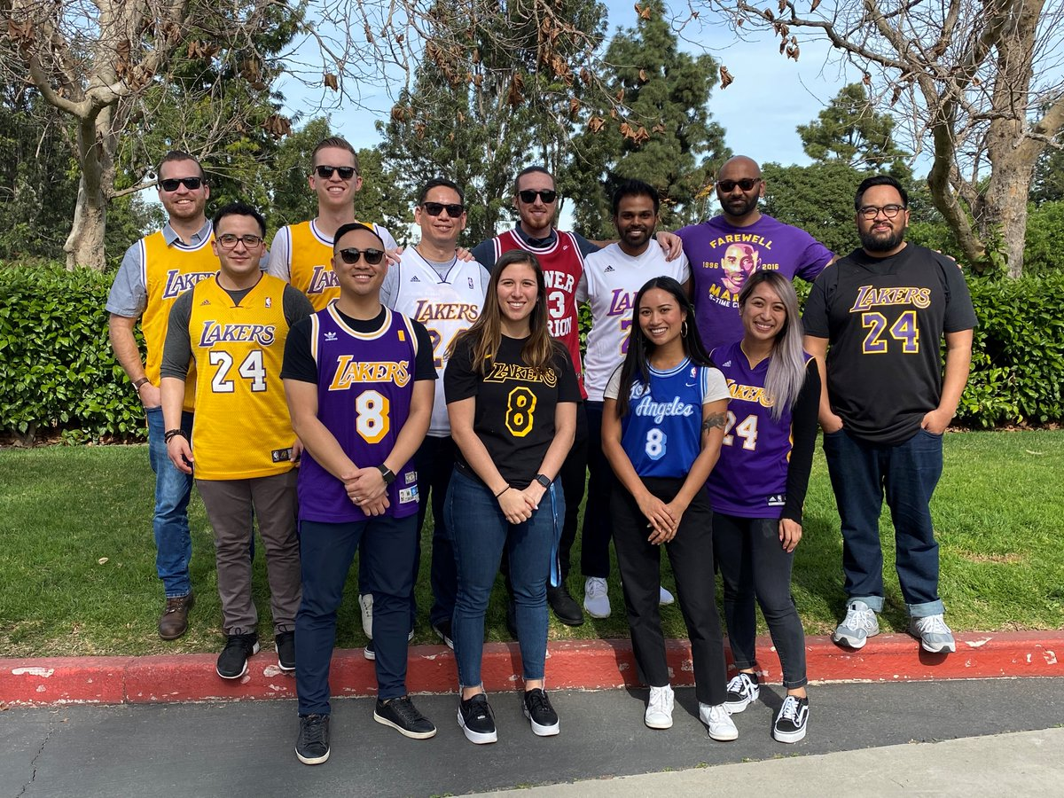 P2S #LakerFans paid tribute #KobeBryant by wearing their jerseys during our Taco Tailgate.  Rest in peace to a legend #8 #24