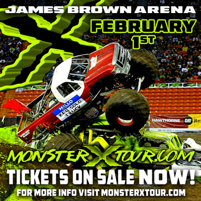 #MonsterXTour invades #JamesBrownArena tomorrow for two shows! Tickets still available here > http://bit.ly/MonsterXTWT  Prices increase tomorrow, so get them today!  #EntertainAugusta #LoveAugustapic.twitter.com/CEA7Qc1CFj