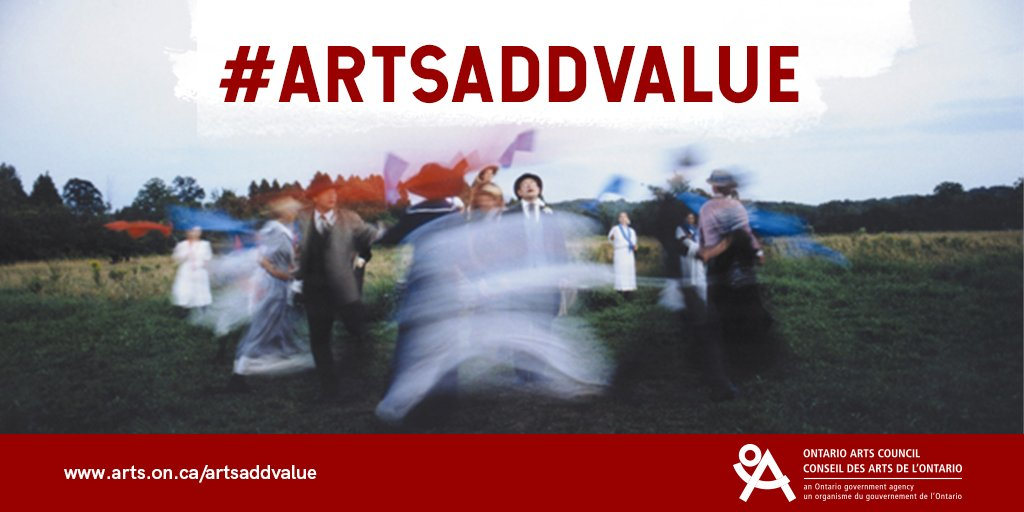 #ArtsAddValue graphic