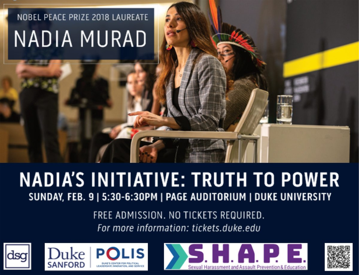 SHAPE's keynote speaker is Nadia Murad, the 2018 Nobel Peace Prize Laureate and human rights activist. The event will highlight Nadia's Initiative, her global non-profit organization that rebuilds communities in crisis and advocates for survivors of sexual violence.