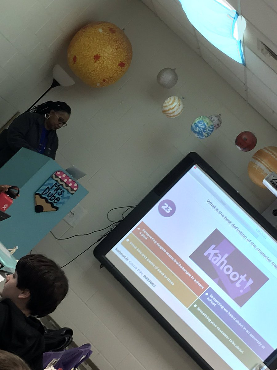 Students used Kahoot to review skills in Counseling. Thank you Mrs. Callwood!!!! #baldwinproud