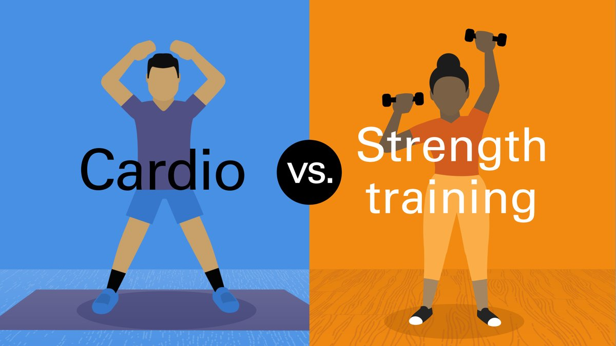 Image for the Tweet beginning: #Cardio and #strengthtraining affect your