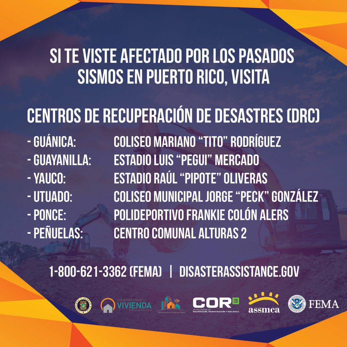 Información importante para aquellas personas que han sido afectadas por los sismos.