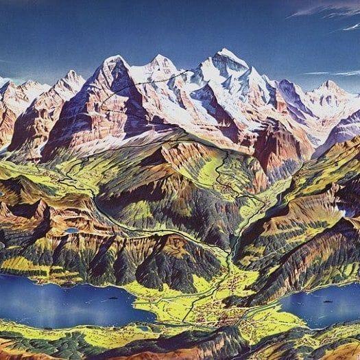 Amazing hand-drawn #maps by  Professor H.C. Berann. He is an #artist / #cartographer from #Tyrol in #Austria.  Source: https://buff.ly/2RGOlbv  #geography #geoscience #geo #mapart #cartography #geographyteacher #geographer #geomorphology #geologypic.twitter.com/ojnDBy3oK2