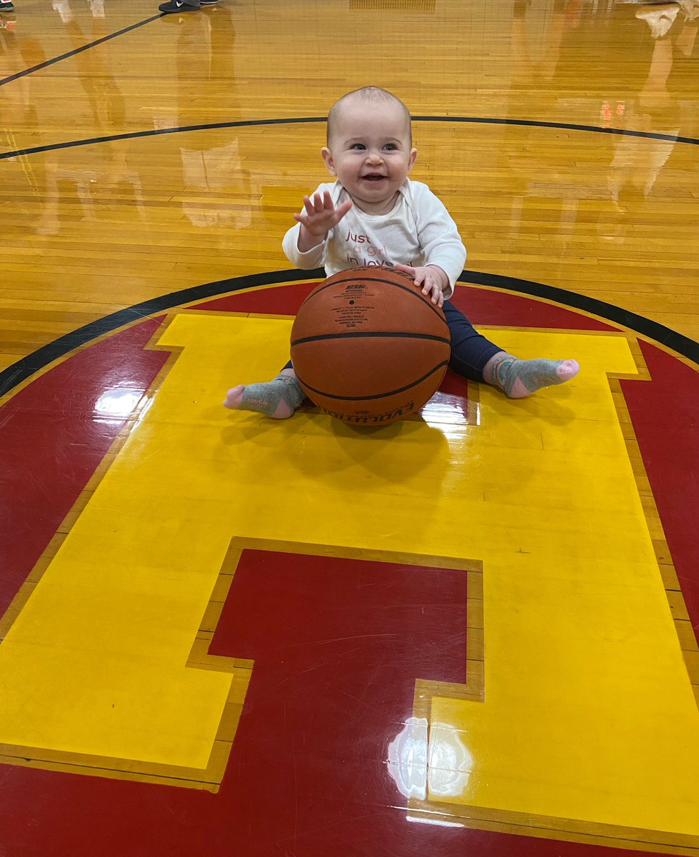 MyMom is the Coach and I'm ready to play @thehoosiergym with the Flyers @golhsflyers