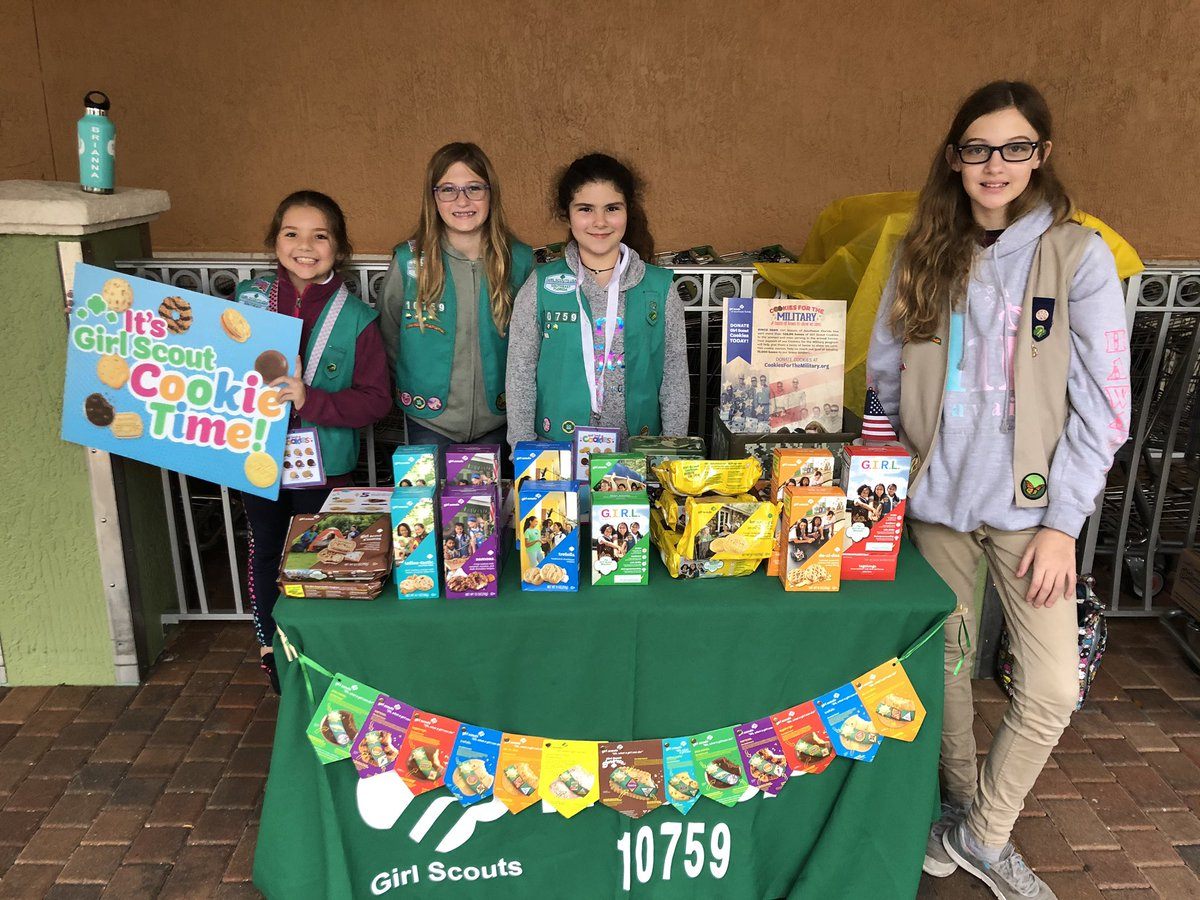 Troop 10759 is selling Girl Scout cookies at the Weston Town Center Publix from 5-7pm. Stop by to get your cookies! #futureleaders #maketheworldabettetplace