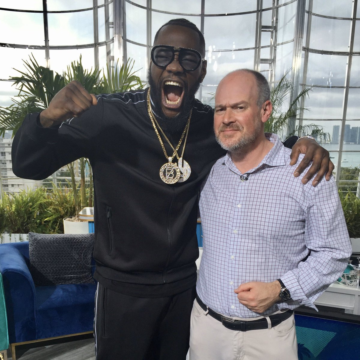 It wouldn't be a @BronzeBomber interview without a big 🗣 #BombZquad to finish it off! The Heavyweight Champ joined the @richeisenshow in Miami today to talk #WilderFury2 and more ahead of #SuperBowl2020. https://t.co/knTKuDYNbw