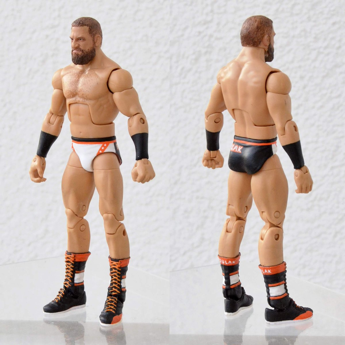 """WWE Drew Gulak /""""pour une meilleure 205 LIVE/"""" Custom Shirt pour Mattel figures."""