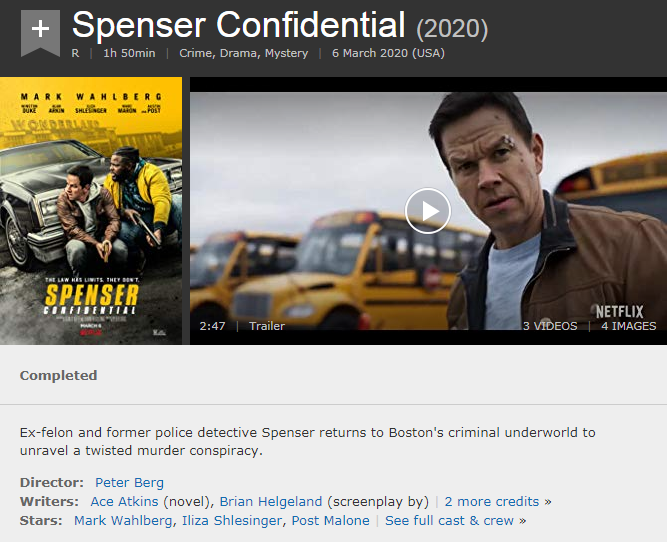 Watch Spenser Confidential 2020 Full Hd Movie Sub Spenser Watch Twitter