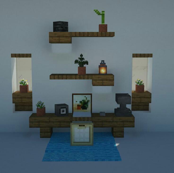 идеи для украшения комнаты в майнкрафт #6