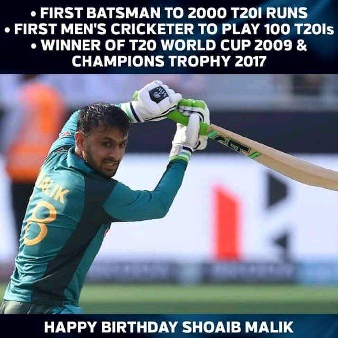 Happy birthday Shoaib Malik!