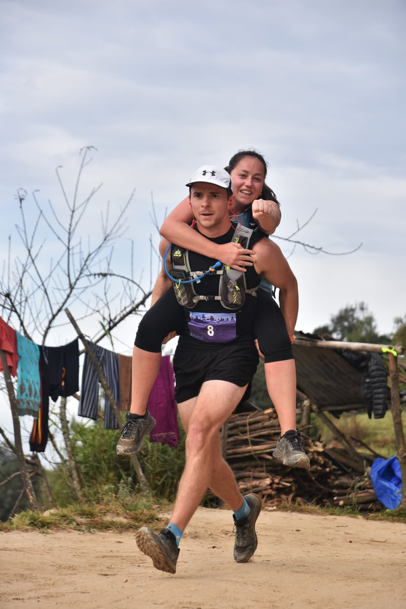 Now that is one way to reach the finish line! #running #trailrunning #impact