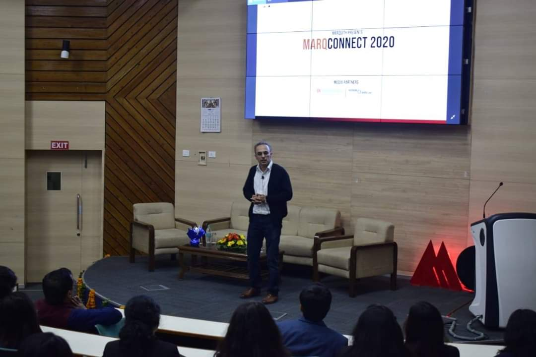 Ms. Sangeeta Talwar (Creator of Brand - Maggi 2 Minute Noodles, Managing Director, Flyvision), Ms. Virginia Sharma (Director - Marketing Solutions, LinkedIn) followed by an engaging session by Mr. Samar Singh Sheikhawat (Ex-CMO, United Breweries).   #Marquity #MarQConnect
